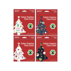 Adult Christmas Greeting Washable Face Mask 4 Asst