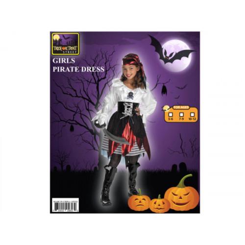 pirate girl headband + dress + belt costume