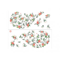 floral heart wall art kit