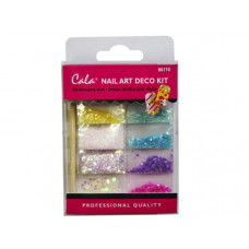 Multi Color Stone Nail Art Decoration Kit with Glue