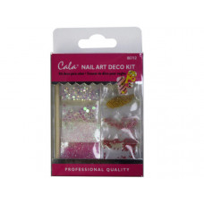 Pink Gems Nail Art Decoration Kit with Glue