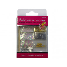 Gold Nail Art Decoration Kit with Glue