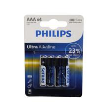Philips Ultra Alkaline 4 Pack AAA Battery