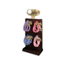 Two Tone Satin Weave Bracelets in Countertop Display