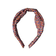 1 count wide head band in black and red assorted colors