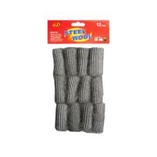 12 Pack Steel Wool Pads