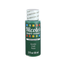 nicoles 2 oz acrylic craft paint in grass green