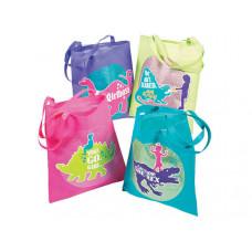 Girlysaurus Tote Bag in Assorted Colors