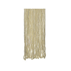 4 Pack Gold Metallic Bead Necklaces