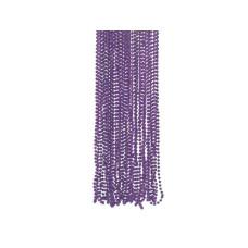 4 Pack Purple Metallic Bead Necklaces