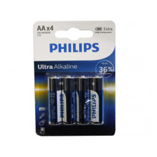 Philips Ultra Alkaline 4 Pack AA Battery