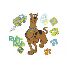 Scooby Doo Prints Self-Stick Wall Decor Stickers Set