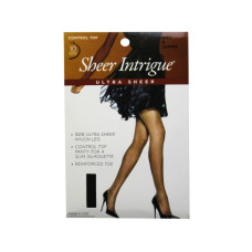 Sheer Intrigue Coffee Brown Ultra Sheer Control Top Pantyhose Size B (UH)
