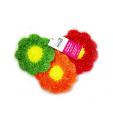 3 Pack Strawberry Sponges in Red, Orange and Green