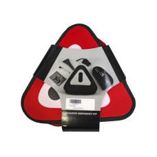 5 piece auto emergency roadside tool set in case