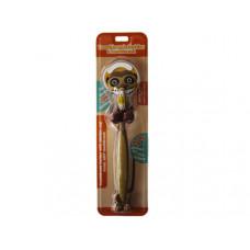 boy meerkat toothbrush and toothbrush holder