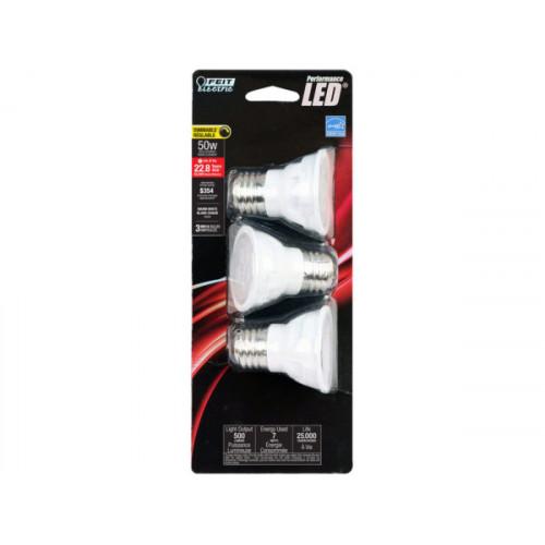 Feit Electric 3 Pack MR16 50W Performance LED Light Bulbs