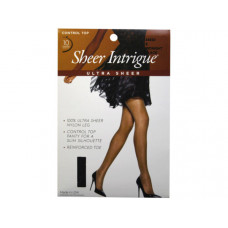 Sheer Intrigue Off Black Ultra Sheer Nylon Pantyhose Size D (PG)