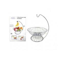 Casa Nueva 3 Piece Banana Hook Fruit Basket