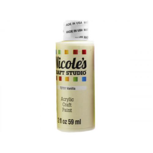 nicoles 2 oz acrylic craft paint in vanilla