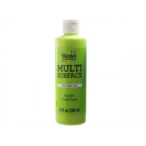 nicoles 8 oz acrylic multi surface craft paint in bitter lim