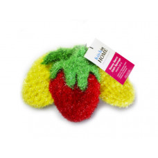 3 Pack Strawberry Sponges in Red, Yellow and Yellow