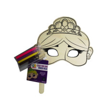Horizon DIY Princess Wood Mask with Colored Markers