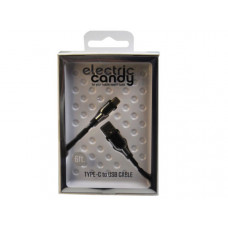 Electric Candy 6 Ft Type C Cable in Black & Silver