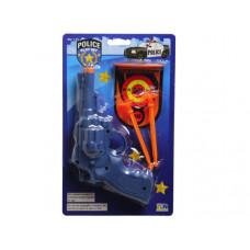 Blue Police Pistol Shooting Play Set