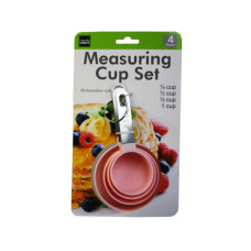 4 Pack Stackable Measuring Cup Spoon Set