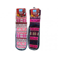 Winter Themed Slipper Socks with Foot Grips in Assorted Styles