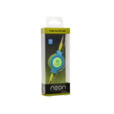 ReTrak 3.2 Foot Retractable Neon Green & Blue Aux Audio Cable