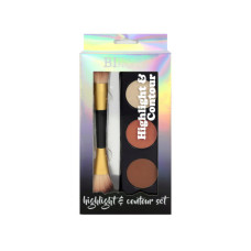 Beauty Intuition Highlight and Contour Palette with Jumbo Makeup Brush
