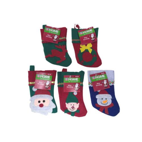 Christmas Mini Stockings Wreath Theme