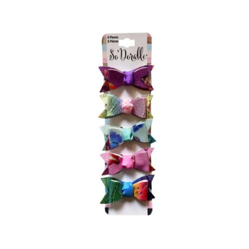 Multi-Color 5 Piece Hair Clippies