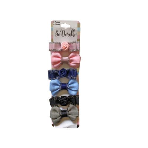 Multi-Color 6 Piece Hair Clippies
