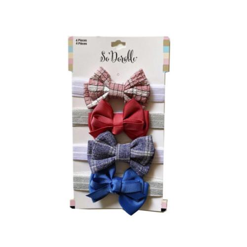 Multi-Color 4 Piece Headwraps
