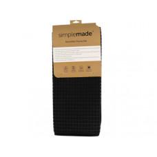 "18"" X 24"" Solid Microfiber Dish Drying Mat in Black"