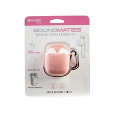 SoundsMates True Wireless Bluetooth 5.0 Earbuds Pink Combo Pack