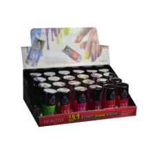 ultra neon gel nail polish asst colors in display