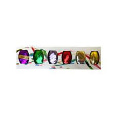 Set of 6 Colorful Metallic Curling Ribbon