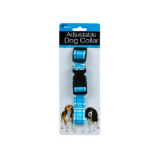 Adjustable Dog Collar with Plaid Design