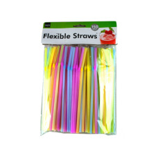 Flexible Neon Straws