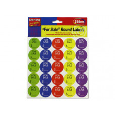 """For Sale"" Round Sticker Labels"