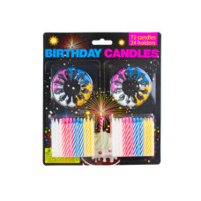 Birthday Candles with Holders Set