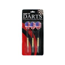 Hard Tip Darts with American Flag Design