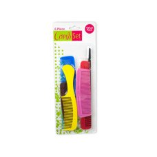 Colorful Hair Comb Set