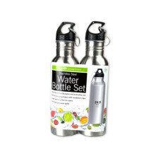 24 oz. Stainless Steel Sports Bottle Set