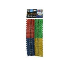 Multi-Colored Plastic Clothespins