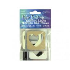 Metal Rim Heart Cut-Out Slide Frames
